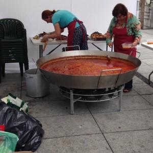 Foto de la preparación de la comida pantagruélica